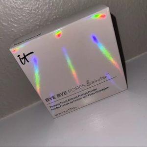 NIB IT COSMETICS BYE BYE PORES ILLUMINATION Pressed Powder Radiant Translucent